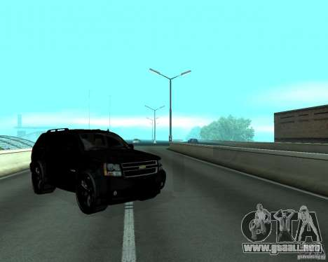 Chevrolet Tahoe BLACK EDITION para la visión correcta GTA San Andreas
