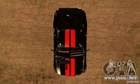 Ford Mustang Shelby GT500 From Death Race Script para la visión correcta GTA San Andreas