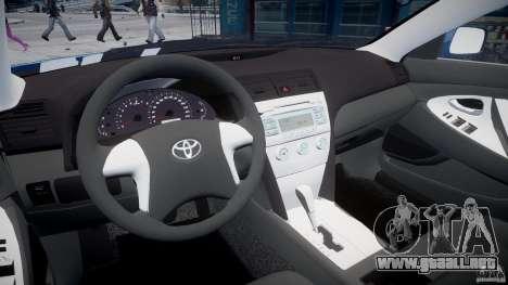 Toyota Camry 2007 (XV40) v1.0 para GTA 4 visión correcta