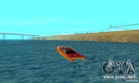 GTAIV Jetmax para GTA San Andreas vista posterior izquierda