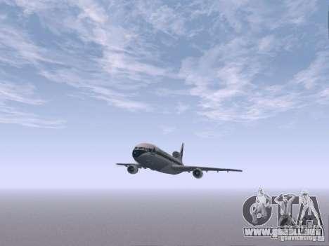 L1011 Tristar Delta Airlines para visión interna GTA San Andreas