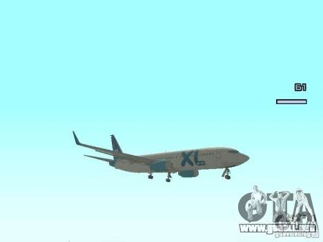 XL Airways 737-800 para GTA San Andreas left