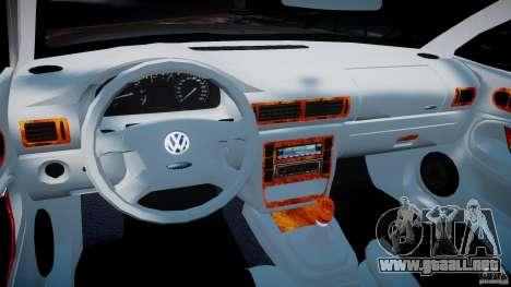 Volkswagen Passat B5 para GTA 4 vista hacia atrás