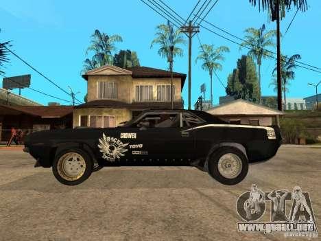 Plymouth Hemi Cuda Rogue Speed para GTA San Andreas left