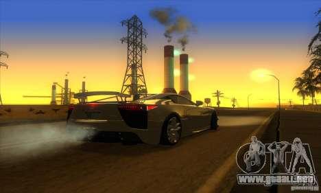 ENB Graphics by KINOman para GTA San Andreas sexta pantalla