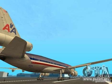 McDonell Douglas MD11 American Airlines para la visión correcta GTA San Andreas