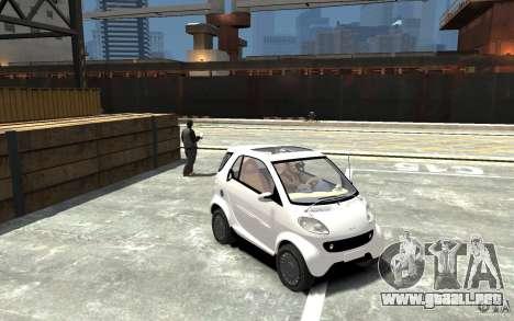 Smart For Two para GTA 4 vista hacia atrás