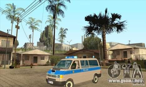 Volkswagen Transporter T4 German Police para GTA San Andreas
