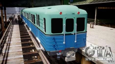Metro ruso para GTA 4 adelante de pantalla