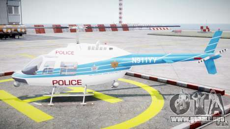 Bell 206 B - Chicago Police Helicopter para GTA 4 left
