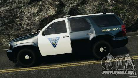 Chevrolet Tahoe Marked Unit [ELS] para GTA 4 left