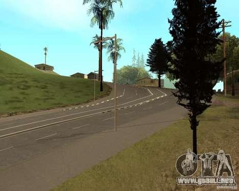 Nuevos caminos en Vinewoode (Los Santos) para GTA San Andreas segunda pantalla