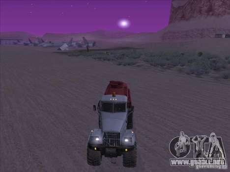 Camión de combustible KrAZ-255 para la visión correcta GTA San Andreas