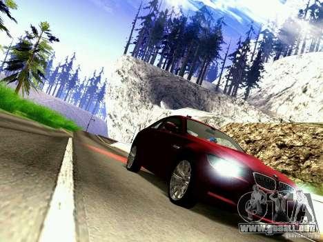 BMW M3 MotoGP SafetyCar para GTA San Andreas vista hacia atrás
