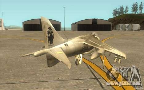 Harrier GR7 para la visión correcta GTA San Andreas