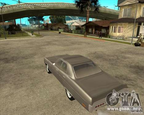 1972 Plymouth Fury III Stock para GTA San Andreas left