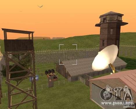 Base Gareli para GTA San Andreas sexta pantalla