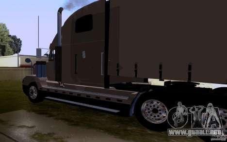 Freightliner SD 120 para GTA San Andreas vista posterior izquierda