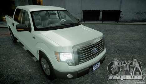 Ford F150 XLT v1.3 para GTA 4 visión correcta