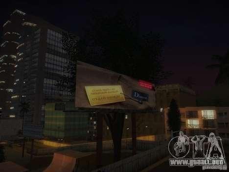 Nuevos carteles por todo el estado para GTA San Andreas séptima pantalla