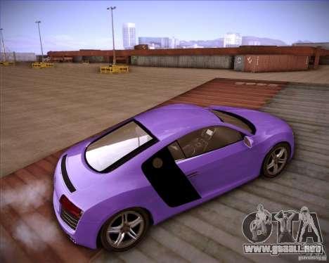 Audi R8 Shift para GTA San Andreas vista posterior izquierda