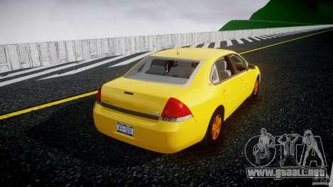 Chevrolet Impala 9C1 2012 para GTA 4 vista lateral