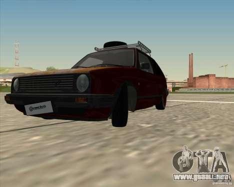 VW Golf II Shadow Crew para GTA San Andreas vista posterior izquierda