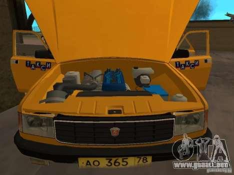 GAZ 31029 Taxi para GTA San Andreas vista hacia atrás