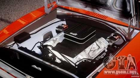 Dodge Charger General Lee 1969 para GTA 4 vista superior