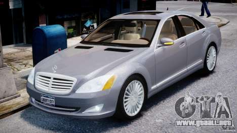 Mercedes-Benz S-Class 2007 para GTA 4 vista interior