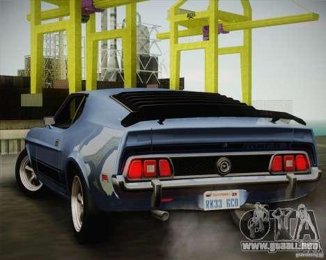 Ford Mustang Mach1 1973 para la visión correcta GTA San Andreas