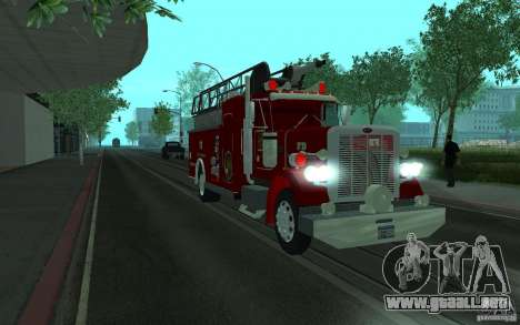 Peterbilt 379 Fire Truck ver.1.0 para GTA San Andreas vista posterior izquierda