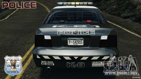 LCPD K9 Unit para GTA 4 vista superior