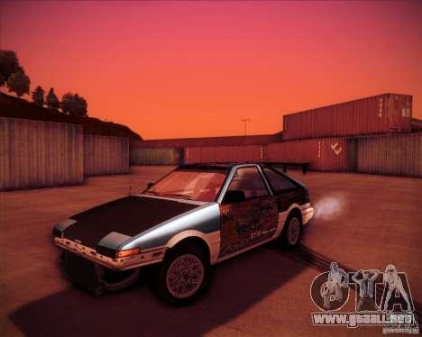 Toyota Corolla AE86 StreetAttack para GTA San Andreas