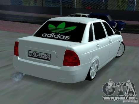 Lada Priora Adidas para vista lateral GTA San Andreas