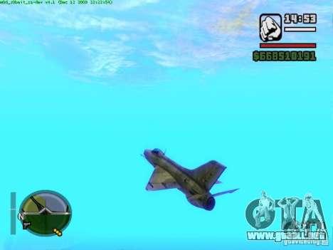 MIG 21 nuevo para la visión correcta GTA San Andreas