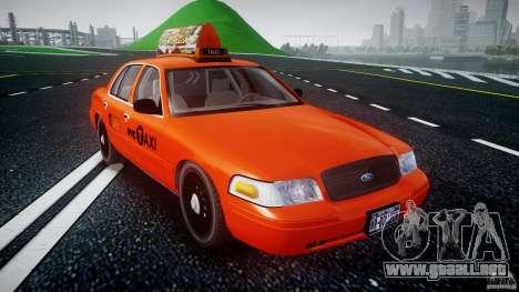Ford Crown Victoria 2003 v.2 Taxi para GTA 4 vista hacia atrás