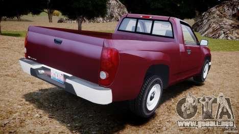 Chevrolet Colorado 2005 para GTA 4 Vista posterior izquierda