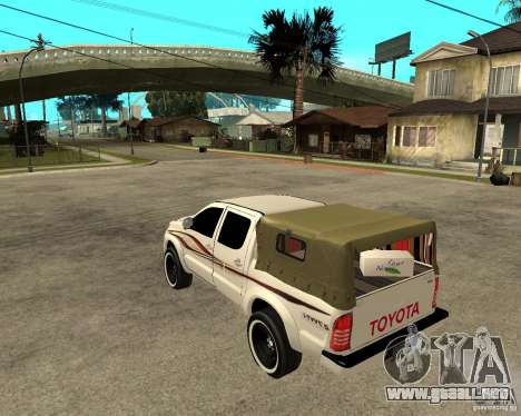 Toyota Hilux 2010 para GTA San Andreas left