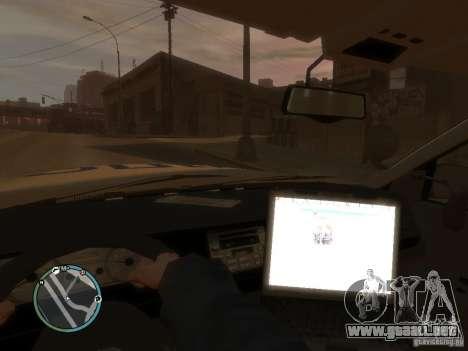 Policía de Ford Crown Victoria para GTA 4 visión correcta