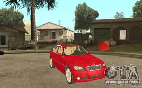 BMW 330i E90 v.2.0 para GTA San Andreas vista hacia atrás