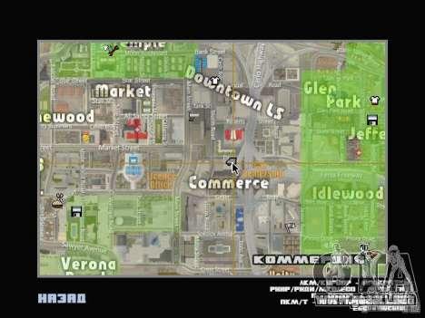 Car shop para GTA San Andreas segunda pantalla