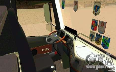 Volvo FH16 Globetrotter MAMMOET para la visión correcta GTA San Andreas