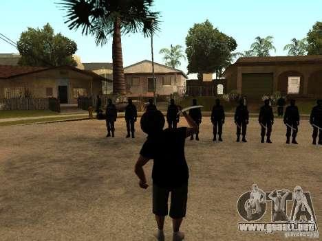 La lucha con las katanas en Grove Street para GTA San Andreas