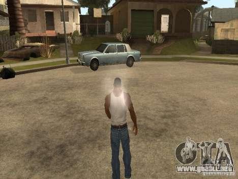 Puede sentarse, fumar, beber whisky, vómitos, es para GTA San Andreas sexta pantalla