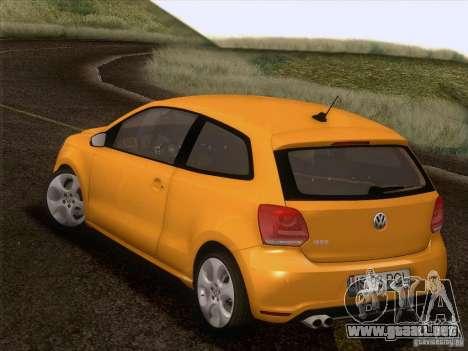 Volkswagen Polo GTI 2011 para vista inferior GTA San Andreas