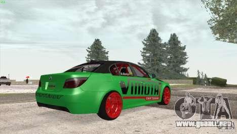 BMW M5 E60 Darius Balys para GTA San Andreas vista hacia atrás