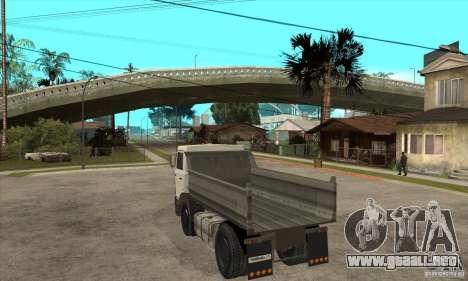 5551 MAZ camión para GTA San Andreas vista posterior izquierda