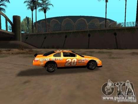 Toyota Camry Nascar Edition para GTA San Andreas vista hacia atrás