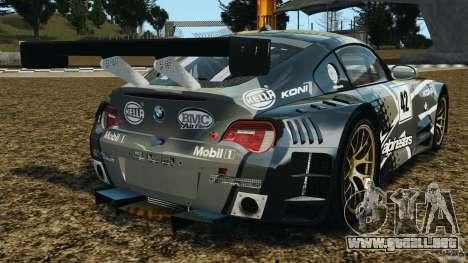 BMW Z4 M Coupe Motorsport para GTA 4 Vista posterior izquierda